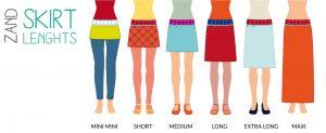 ZAND Amsterdam skirt lengths