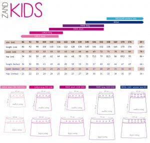 ZAND Amsterdam Size Guide Kids
